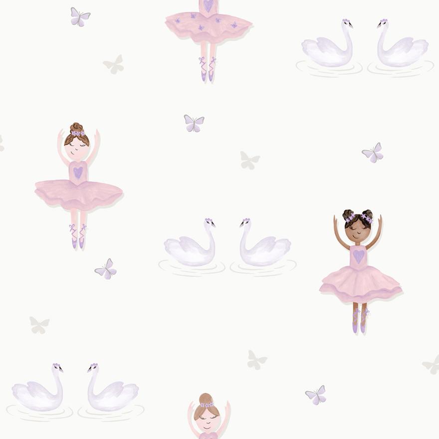 Tapetai make believe, pretty ballerina cream pink, 12461