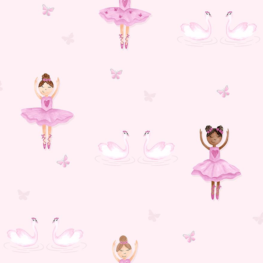 Tapetai make believe, pretty ballerina pink, 12460