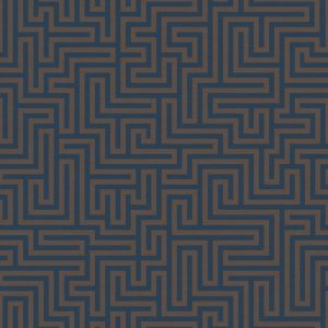 tapetai holdendecor, sakkara, labyrinth navy, 65590