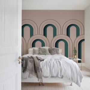 tapetai rebelwalls, Arch Deco, R16101 interjere 2