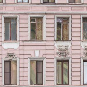 tapetai rebelwalls, deco, Pink Facade R15881