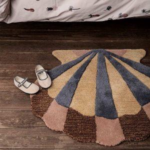 kilimas Tufted Wall Floor Deco - Shell interjere