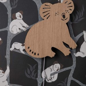 tapetai Koala Wallpaper - Dark Green interjere