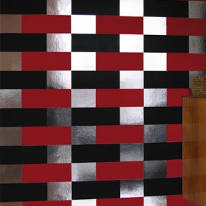 TAPETAI BLOCK Black_red_silver