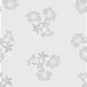 TAPETAI HIBISCUS Grey_White
