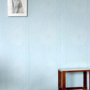 TAPETAI SPIRAL White_Blue