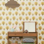 TAPETAI FERMLIVING, Dotty Wallpaper - Yellow interjere
