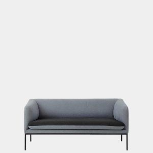 sofa Turn Sofa 2 - Cotton - Dark Grey