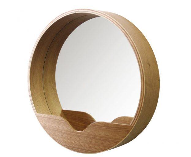 veidrodis round wall