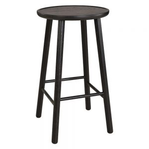 baro kėdė ZigZag barstool 63cm ash black 660S-63PA