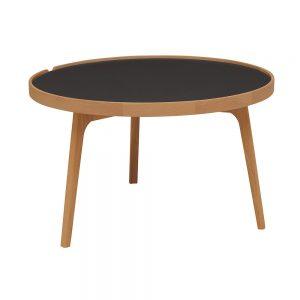 staliukas Racquet sofatable round 80cm oak