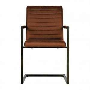 kėdė Bas dining chair pu cognac