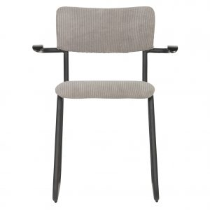 kėdė Ribb dining chair with arm ribcord weathered green
