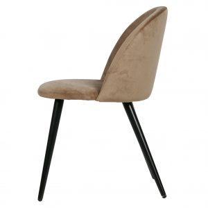 kėdė Set of 2 - fay dining chair velvet light brown
