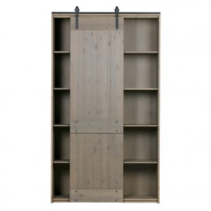 komoda Derby sliding door cabinet pine smoke