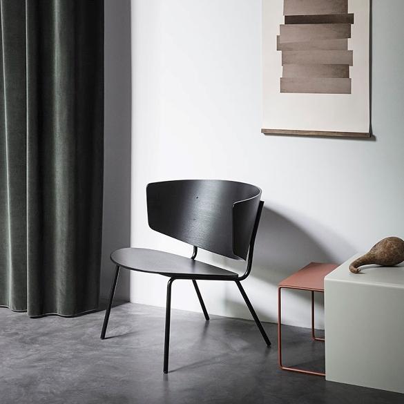 fotelis-Herman-Lounge-Chair-Black-interjere
