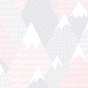 TAPETAI, OVER THE RAINBOW, MOUNTAINS PINK, 91051